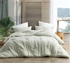 Stylish Passive Green Designer Twin XL, Queen XL, or King XL Bedding Soft Yarn Dyed Modal Twin, Queen, or King Oversize Comforter