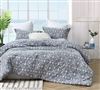 True Oversized King Comforter in Stylish Navy Blue and White Diamond Pattern with Coziest Cotton and Warm Thick Fill