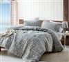 Soft Cotton Extra Large King Comforter Set in Stylish Gray Diamond Pattern and Extended King Dimensions