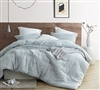 Softest Cotton with Thick Warm Inner Fill Oversized King Comforter in Unique Light Blue Design with Shams