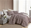 Unique Designer Oversized Twin XL, Queen, or King Cozy Cotton Comforter with Stylish Brushstroke Print and Rust Tones