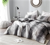 Designer Charcoal Gray Oversized Twin XL, Queen, or King Comforter with Extra Large Plush Soft Cotton Material