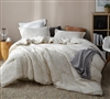 Luxurious Gold Microfiber Oversized Queen XL Comforter with Subtle Stripe Pattern for Queen or Queen XL Bed