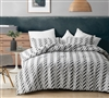 Unique Gray Chevron Striped Printed Twin XL Comforter to fit Twin or Twin XL Bed with Cozy Microfiber Material