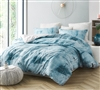 Unique Designer Blue and Gray Printed Twin XL Duvet Cover to Fit Twin or Twin XL Bed with SuperSoft Microfiber