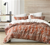 Artistic Designer Copper and Brown Oversized Twin XL, Queen XL, or King XL Soft Microfiber Duvet Cover