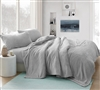Coma Inducer Twin XL Sheets - Wait Oh What - Tundra Gray