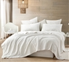 Coma Inducer Twin XL Sheets - Wait Oh What - Farmhouse White