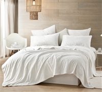 Extra Large Twin Sheets in Easy to Match Off-White Color and Softest Luxury Plush