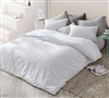 Easy to Match Designer White Cotton Oversized Duvet Cover for King XL Bed Set High Quality Detailed