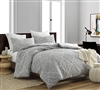Extra Large Queen Bedding made of Cozy Cotton in a Designer Gray Unique Print for Queen XL Bed