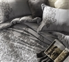 Softest King size bedding Shams - Alloy and Pewter Embroidery sham sets King size