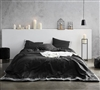 Oversized Reverse Black and White Embroidered Twin XL Comforter for Twin Bed with Soft Cotton Material