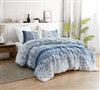 Soft Cotton Oversized Blue Design Twin XL Comforter with Matching Shams for Twin or Twin XL Bed