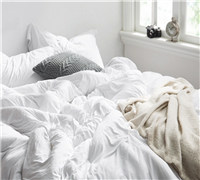 Bare Bottom Comforter - Queen Bedding White