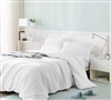 Soft to the Touch Bare Bottom Extra Long King Duvet Cover Stylish White King XL Oversize Bedding