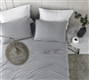 Spandex Infused Microfiber Full Sized Sheet Set Bare Bottom All Season Alloy Gray Full Bedding Accessories