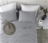 Complete Twin XL, Queen, or King Sheet Set Ultra Cozy All Season Bare Bottom Alloy Gray Bedding