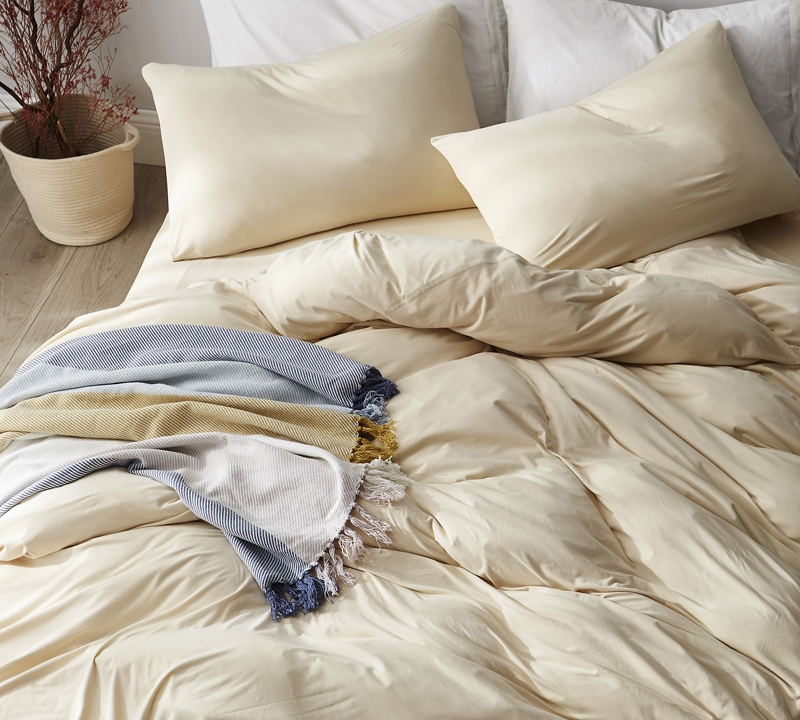 Softest Bedding Sheets Sized Twin Extended Cream Color Bare Bottom Winter Warmth