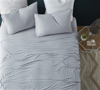 Most Comfortable Sheets for Queen Size Bed Bare Bottom All Season Tundra Gray Queen Bedding with High Quality Comfort
