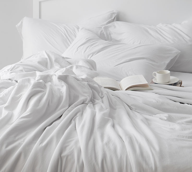 Bare Bottom Sheets   All Season   King Bedding   White