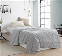 Affordable Luxurious Extra Long Twin Bedding Most Comfortable Coma Inducer Twin XL Blanket Glacier Gray Baby Bird