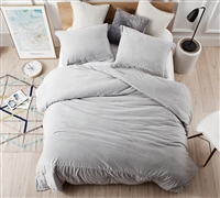 Extra Large King Comforter Glacier Gray Coma Inducer Soft Baby Bird Gray King Oversize Bedding