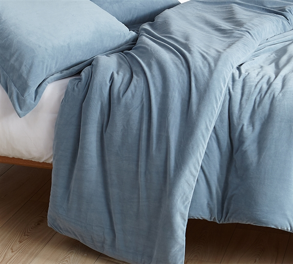 Plush King Oversize Duvet Cover Ultra Soft Baby Bird and Coma Inducer King XL Bedding Smoke Blue