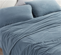 Most Comfortable Twin XL, Queen, and King Bedding Sheets Plush Coma Inducer Baby Bird Smoke Blue Bedding