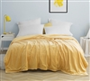 Super Soft Luxurious Plush Twin XL Bed Blanket in Unique Yellow/Orange Shade