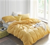 Vibrant Yellow Extra Large King Duvet Cover with Stylish Matching Shams and Soft Luxury Plush Material