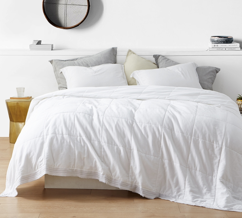 bd furniture and decor.htm softest cotton with thick inner fill and stylish white quilted  softest cotton with thick inner fill