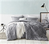 Easy to Match Reversible Gray Oversized Twin XL Comforter made with Soft Microfiber Material for Twin or Twin XL Bed
