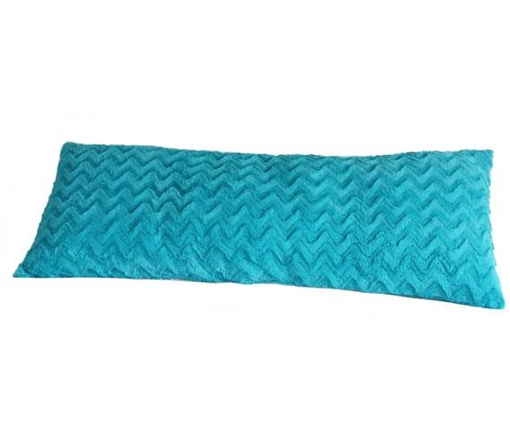 plush body pillow aqua