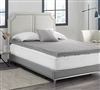 "Nighttime Gray Coma Inducer Essential Twin XL, Full XL, Queen, and King Bedding Love Your Back 3"" Convoluted Memory Foam Topper"