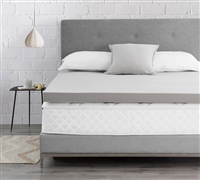 "Drools Spoon Me - Coma Inducer  -  3"" Memory Foam Twin XL Bedding Topper - Nighttime Gray"