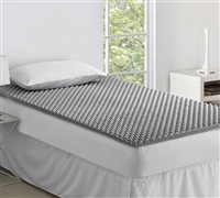 Classic Foam Twin XL Bedding Topper - Nighttime Gray