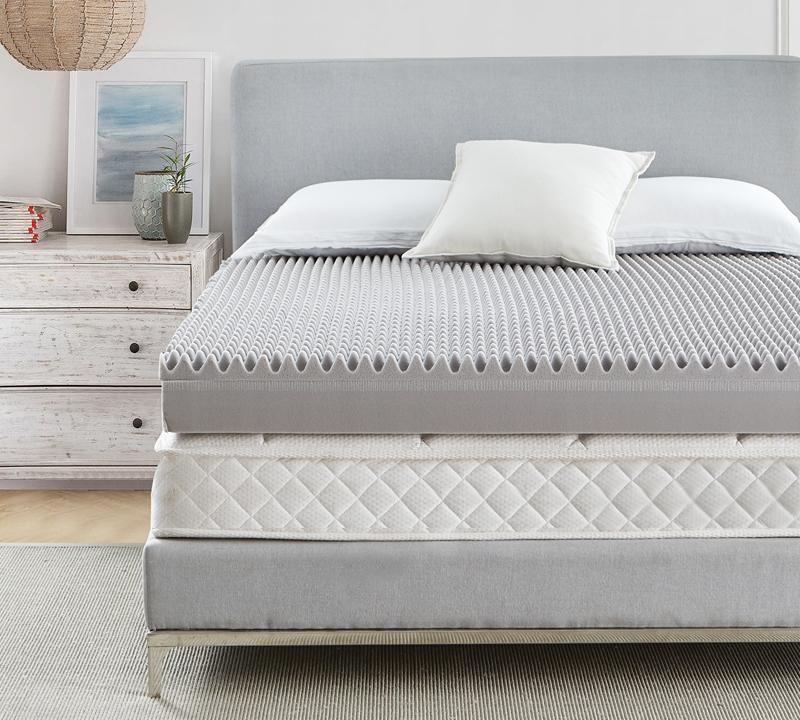 Ultimate Sleep Coma Inducer 6 Memory Foam Plus Support Queen Bedding Topper Nighttime Gray