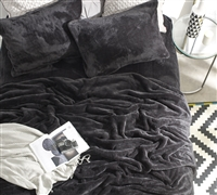 Thick Plush Twin XL Sheets with Matching Pillowcases in Stylish Black Color