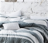 100% Cotton - Yarn Dyed bedding shams sized Queen - Super Soft Gray Shams Queen size
