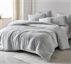 Gray Twin, Queen, or King Oversized Comforter with Super Soft Teddy Fleece and Blinged Out Style