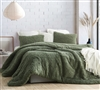 Commander Green Oversized Twin, Queen, or King Plush Comforter Made with Machine Washable Bedding Materials