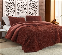 Birds of a Feather - Coma Inducer Oversized Queen Comforter - Burnt Henna