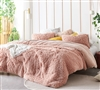 Beautiful Desert Blush Pink Twin XL, Queen XL, or King XL Birds of a Feather Faux Feather Oversized Bedding