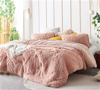 Birds of a Feather - Coma Inducer Oversized Queen Comforter - Desert Blush