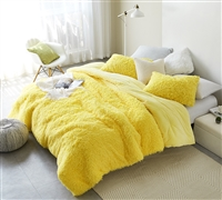 Birds of a Feather - Coma Inducer Oversized King Comforter - Sunshine Yellow