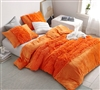 Eye-Catching Orange Extra Large Twin Bedding Essential Are You Kidding Soft Plush Oversized Bedspread