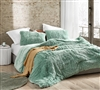 Ultra Cozy Long Plush Twin Oversized Comforter Duck Egg Green Are You Kidding XL Twin Bedding