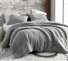 Stylish Silver Gray Oversized Twin XL, Queen, or King Comforter with Coziest Thick Luxury Plush