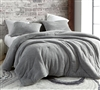 Fashionable Silver Gray with Warm Polyester Fill and Cozy Plush Cover Extra Large Queen Comforter